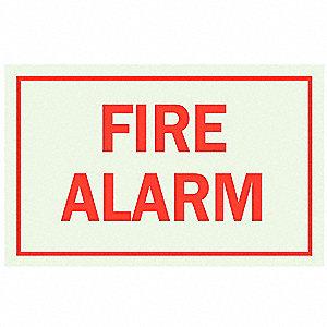 SIGN FIRE ALARM SELF STK 5X7