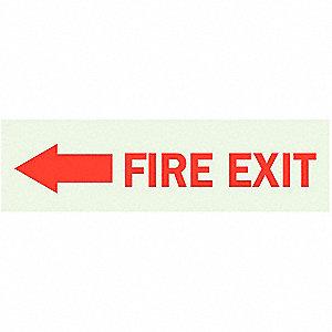 SIGN FIRE EXIT SELF STK 3.5X10