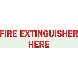 SIGN DIRECTIONAL 14X5 FIRE EXT S.S.