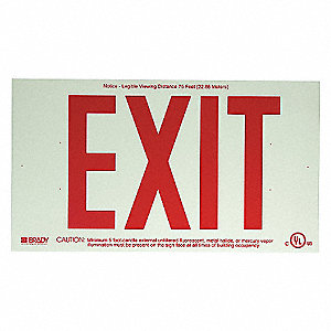 RED WALL MOUNTED EXIT SIGN
