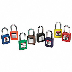 PADLOCK SAFETY 1.5IN KD BLUE