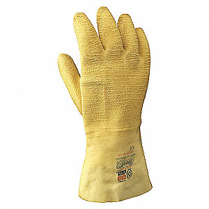 GLOVES RUBBER 12IN WRINKLE SZ 10