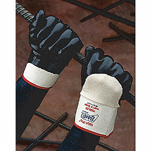 GLOVES NITRILE S/C P/C ROUGH BL 10
