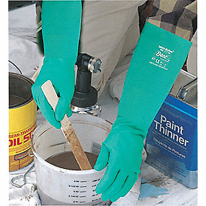 GLOVES NITRILE/UNLI 22 MIL 15IN GR