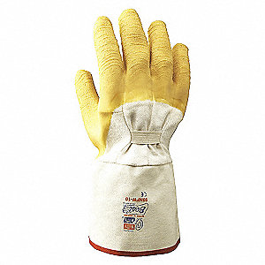 GLOVES RUBBER 12IN P/C WRINKLE 10