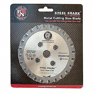 "4-3/8"" Carbide Metal Cutting Circular Saw Blade, Number of Teeth: 24"