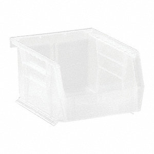 Hang and Stack Bin,5-3/8 In L,Clear