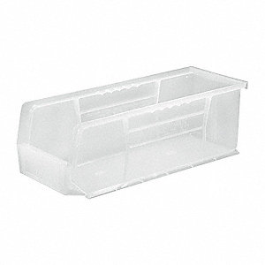 Hang and Stack Bin,14-3/4 In L,Clear