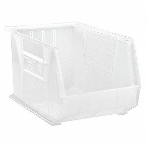 STACK/HANG BIN,18DX11WX10H,CLEAR