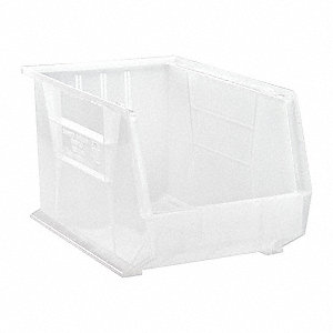 Hang and Stack Bin,18 In L,11 In W