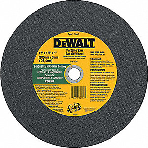 WHEEL CUT-OFF ABRASIVE 12X1/8X1IN