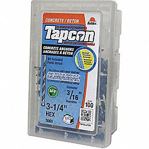 SCREW TAPCON 3/16X3-1/4 HH