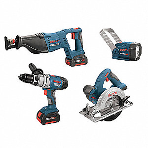 KIT COMBO 4 TOOL LITHIUM ION 18V