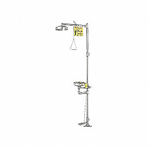 SHOWER/EYEWASH CBTN DRNCH W/DST CVR