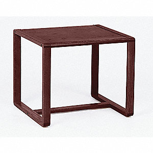 End Table,Mahogany Finish,24x20-1/2x20