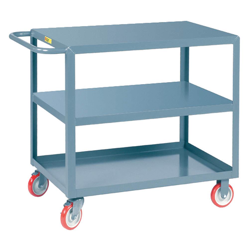 GRAINGER APPROVED Steel Flat Handle Utility Cart, 1200 lb. Load ...