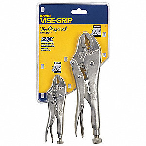 Locking Pliers Set, Handle Type: Plain Grip, Number of Pieces: 2