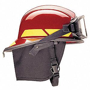 HELMET FIREFIGHTER RED W/4IN VISOR