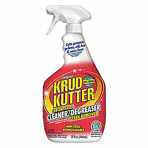 Cleaner/Degreaser, 32 oz. Spray Bottle, Unscented Liquid, Concentrated, 1 EA