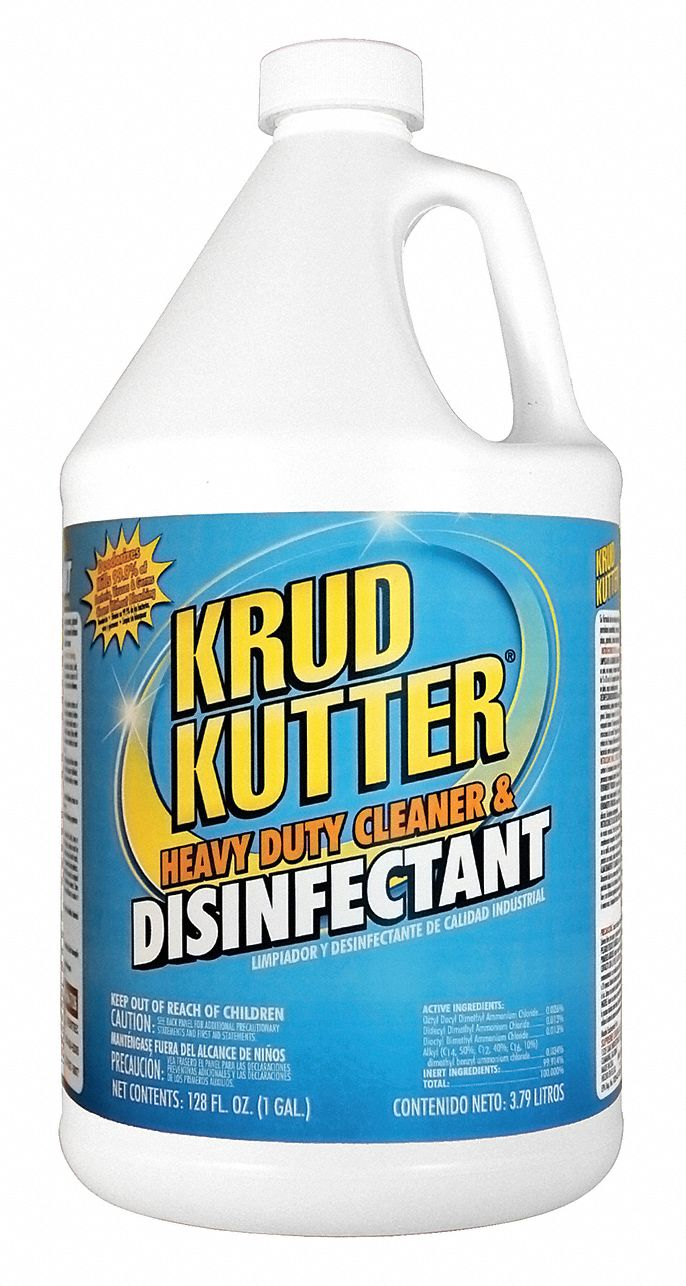 Disinfectant Cleaner,  1 gal Cleaner Container Size,  Jug Cleaner Container Type