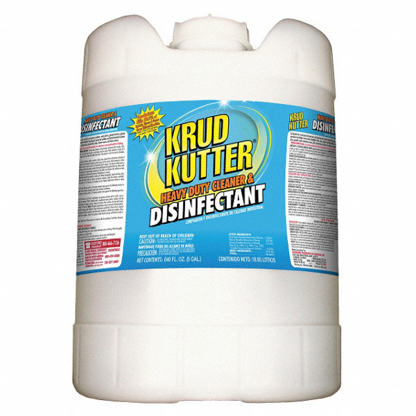 KRUD KUTTER Cleaner and Disinfectant, 5 gal. Pail - 10K010DH05 ...