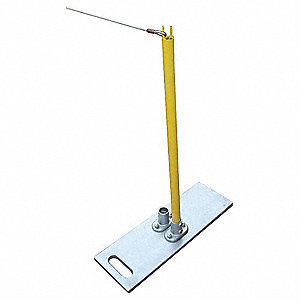 Single Stanchion,40In. H,Yellow