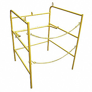 "Collapsible Manhole Guard Rail, 42"" Overall Height, 33"" Overall Length, 33"" Overall Width"
