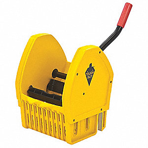 Down Press Mop Wringer, Yellow, Polypropylene, 12 to 32 oz. Mop Capacity