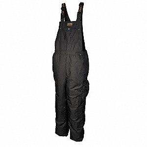 Rain Bib Overall, High Visibility: No, ANSI Class: Unrated, Polyester, 3XL, Black