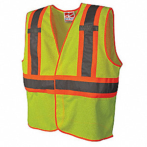 High Visibility Vest,Class 2,L/XL,Lime