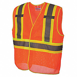 Hi Vis Vest,Class 2,2XL/3XL,Orange
