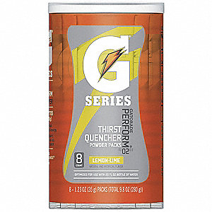 Sports Drink Mix,Lemon-Lime,PK8