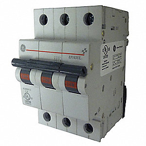 IEC Supplementary Protector, 60 Amps, Number of Poles:  3, 277/480VAC AC Voltage Rating