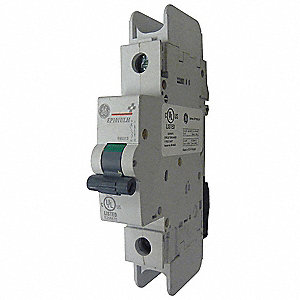 Miniature Circuit Breaker, 6 Amps, C Curve Type, Number of Poles: 1