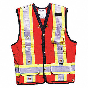 LINESITE VEST SURVEY COTTON RED DEL