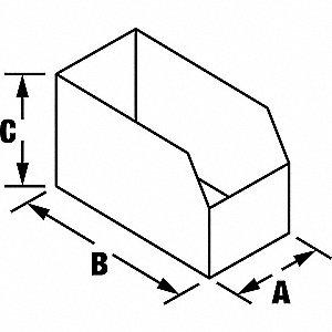BOX BIN 8X18X4-1/2 200 TEST B