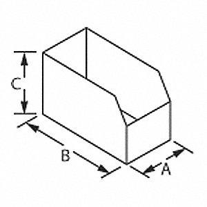 BOX BIN 6X12X4-1/2 175 TEST B