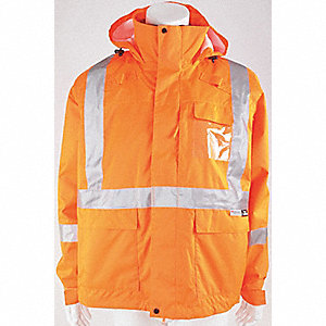 JACKET 3 IN 1 ORANGE 4XL