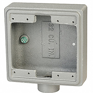 "Weatherproof Box,4.63""L,4.63""W,2.69""D"