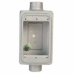 Weatherproof Electrical Box, 1-Gang, 1-Inlet, Malleable Iron