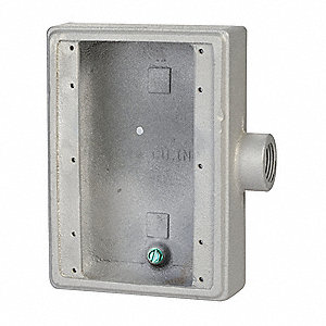 Weatherproof Electrical Box, 3-Gang, 1-Inlet, Malleable Iron