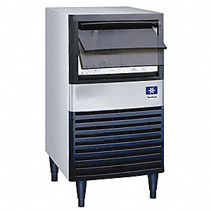 115V Dice Undercounter Ice Machine, Stainless Steel/Black, 95 lb.