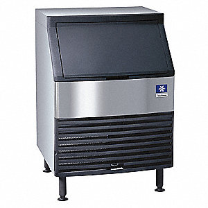 115V Dice Undercounter Ice Machine, Stainless Steel/Black, 225 lb.