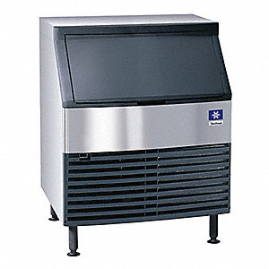 115V Half Dice Undercounter Ice Machine, Stainless Steel/Black, 304 lb.
