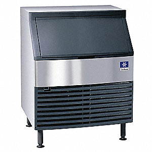 115V Half Dice Undercounter Ice Machine, Stainless Steel/Black, 271 lb.