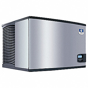 115V Dice Modular Ice Machine, Stainless Steel/Black, 430 lb.