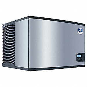 208/230V Half Dice Modular Ice Machine, Stainless Steel/Black, 700 lb.