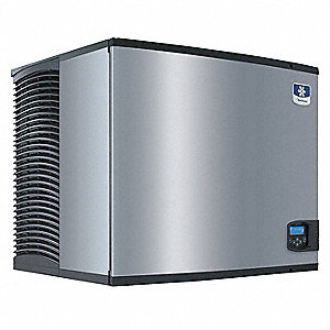 208/230V Half Dice Modular Ice Machine, Stainless Steel/Black, 879 lb.