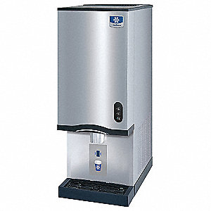 115V Nugget Countertop Ice/Water Dispenser, Stainless Steel/Black, 325 lb.