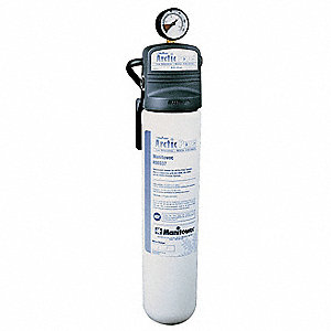 "3/8"" NPT Talc Filled Polypropylene Ice Machine Filter System, 8 gpm, 125 psi"